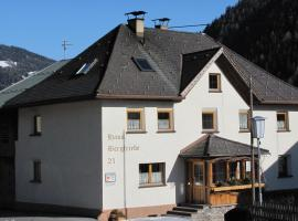 Haus Bergfriede, Pettneu am Arlberg (Schnann yakınında)
