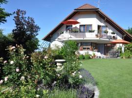Ferienwohnung im Rosengarten, Ebenweiler (Eichstegen yakınında)