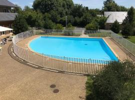 Charmant studio avec piscine, Экемовиль (рядом с городом Barneville-la-Bertran)