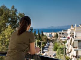 TAURUS - DELUXE APARTMENT WITH SEA VIEW, Афины (рядом с городом Soúrmena)