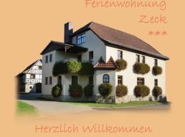 Ferienwohnungen Zeck, Bad Staffelstein (Schwabthal yakınında)