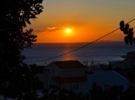Sea and sunset balcony view Klio, Sounio