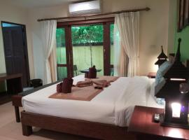 Studio in Hotel by the quiet beach with fine white sand & clear shallow waters