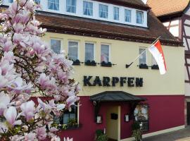 Hotel Zum Karpfen, Obernburg am Main (Schippach yakınında)