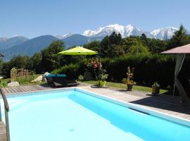 Studio + piscine face au Mt Blanc, Domancy