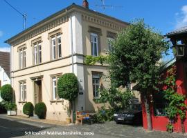 Privat wohnen im Schloßhof, Waldlaubersheim (Waldalgesheim yakınında)
