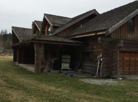 Log House with Pond, Sechelt