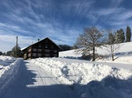 historischer, Allgäuer Bergbauernhof, Immenstadt im Allgäu (Zaumberg yakınında)