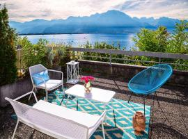 Beautiful Studio Lake View and Castle, Veytaux