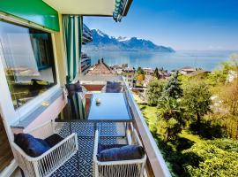 Luxury Appartement avec vue lac, Veytaux (Villeneuve yakınında)