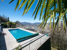 Monte Bre' Apartment, Lugano (Viganello yakınında)