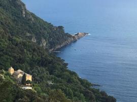 Cliff top apartment, Camogli (Portofino Vetta yakınında)