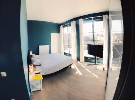 Chambre privée dans loft avec vue sur l'Atomium