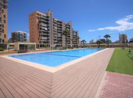 CasaTuris Playa, piscina y parking en Residencial San Juan SJ102, Alicante (Benimagrell yakınında)
