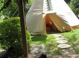 Camping La Vie en Vert, Augirein (рядом с городом Saint-Lary)