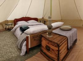 La Fortinerie Glamping Bell Tent, Mouliherne (рядом с городом Vernantes)