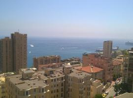 Large studio with sea view at 800m from Monte Carlo Casino