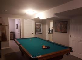 2 bedroom basement suite with kitchen and pool table
