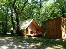 Camping La Châtaigneraie, Gravières (рядом с городом Les Salelles)