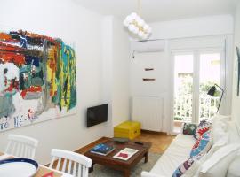 A Refreshed & Rich in Details Apartment in Piraeus (Passalimani - Marina Zeas)