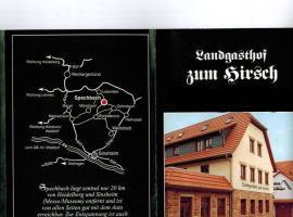 Landgasthof zum Hirsch, Spechbach (Waldwimmersbach yakınında)