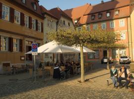 Hotel-Restaurant Weinstube am Markt, Gerolzhofen (Sulzheim yakınında)