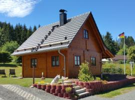 Ferienhaus Wolfs-Revier, Drognitz (Ziegenrück yakınında)