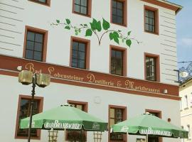 Hotel Marktbrauerei, Bad Lobenstein (Mühlberg yakınında)
