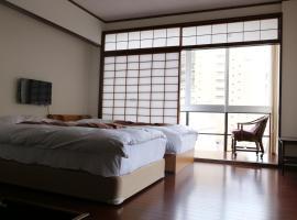 Izu 4 sea ocean reinforced con Double bed + single bed 2 sea view (room