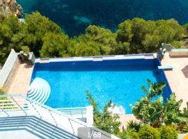 villa with 4 bedrooms in xàbia, with wonderful sea view, private pool, enclos