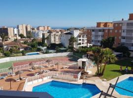 studio in torremolinos, with wonderful sea view, pool access and furnished te...