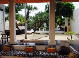 The Dhow House on Shela beach, Lamu.