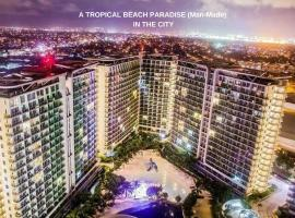 """Experience a luxurious Tropical """"White Beach"""" Paradise in the City at AZURE MANILA. Luxury feel at Best Value!"""
