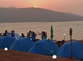 Camping lake side