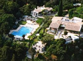 Pontikonisi Villa Sleeps 18 Pool Air Con WiFi