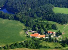 Tvrz Holešice Orlická přehrada, Kamenice (Kožlí u Orlíka yakınında)