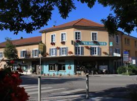 Hôtel Des Alliés, Pont-d'Ain (рядом с городом Neuville-sur-Ain)