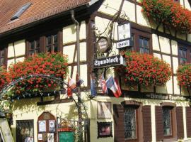 Spundloch- das Hotel & Weinrestaurant, Veitshöchheim (Erlabrunn yakınında)