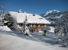 appartement vue mont blanc, chalet à Megève