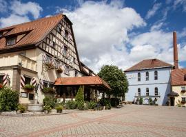 Hotel Brauereigasthof Landwehr-Bräu, Reichelshofen (Gallmersgarten yakınında)