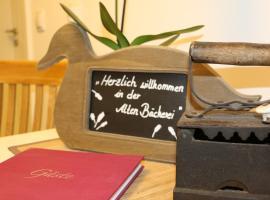 Gästehaus Alte Bäckerei, Dachwig (Bad Tennstedt yakınında)