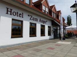 Hotel Zum Anger, Neukirchen-Pleiße (Crimmitschau yakınında)