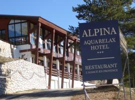 Chalet Alpina Aquarelax Hotel & Spa, Gréolières les Neiges (рядом с городом Coursegoules)