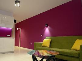 Turquoise and Magenta Apartaments