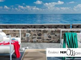 NerOssidiana sul mare di Lipari, Lipari