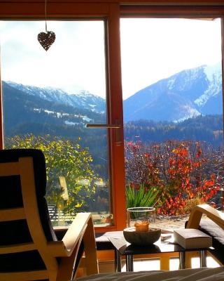 Ferienwohnung mit Sicht auf die Berge (Nähe Flims/Laax)