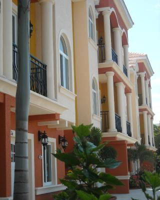 Mediterranean Three Story Beach Townhouse