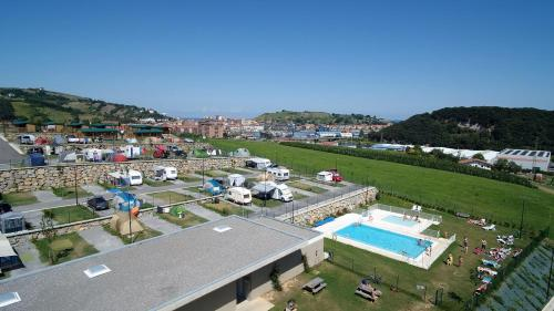 Description for a11y. Camping & Bungalows Zumaia