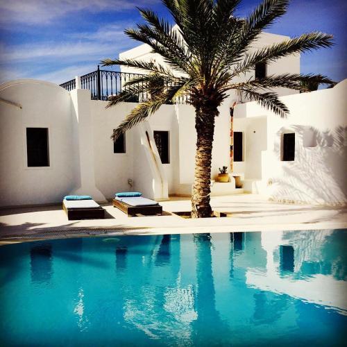 チュニジア, ジェルバ島のビーチ...