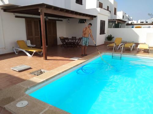 Description for a11y. Villa Timanfaya. Playa Blanca ...